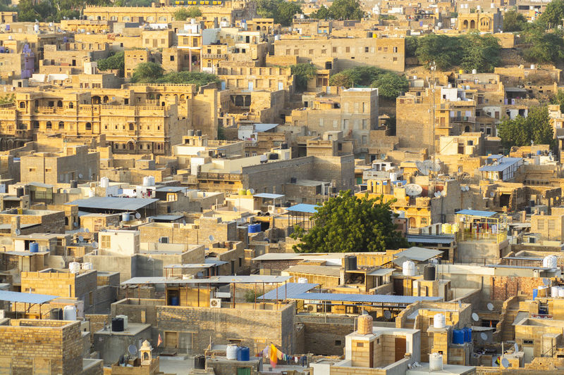 Jaisalmer India Golden Architecture Building Exterior Built Structure City Building High Angle View Cityscape Day Residential District No People Outdoors History Sunlight Nature The Past Travel Destinations Community Old Apartment TOWNSCAPE