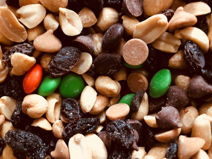 My favorite trail mix Trail Mix Food And Drink Food Sweet Food Sweet Large Group Of Objects Freshness Still Life Full Frame Unhealthy Eating Close-up Temptation Indulgence Candy Ready-to-eat Dessert Indoors  No People Abundance Chocolate Backgrounds