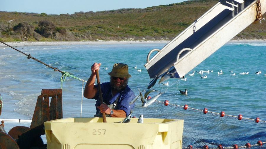 Senior fisherman in australia
