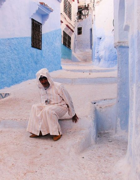 Chefchaouen Marokko - Blue City - old man Learn & Shoot: Balancing Elements Photo Popular First Eyeem Photo Land Of My Dreams Everything In Its Place Marokko Nordafrika