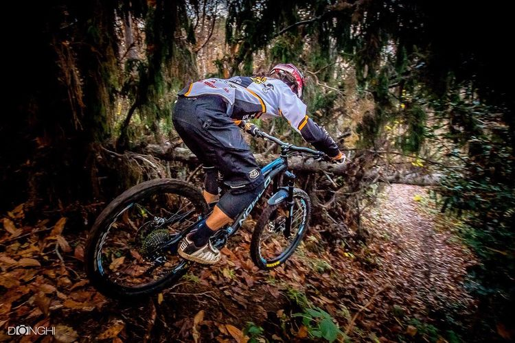 Bicycle Riding Sport Tree One Person Cycling MTB Biking Mountain Bike Enduromtb Black Background