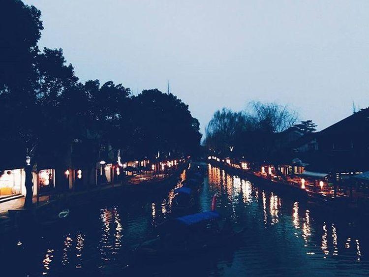Zhouzhuang Suzhou Traveling VSCO Night Ancient Beautiful Cool Spring River 周庄