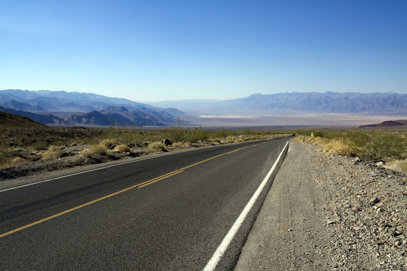 California Death Valley Asphalt Blue Clear Sky Day Endless Road Landscape Mountain Mountain Range Nature No People Road Road Marking Scenics Sky Sony A6000 The Way Forward Tranquility Transportation