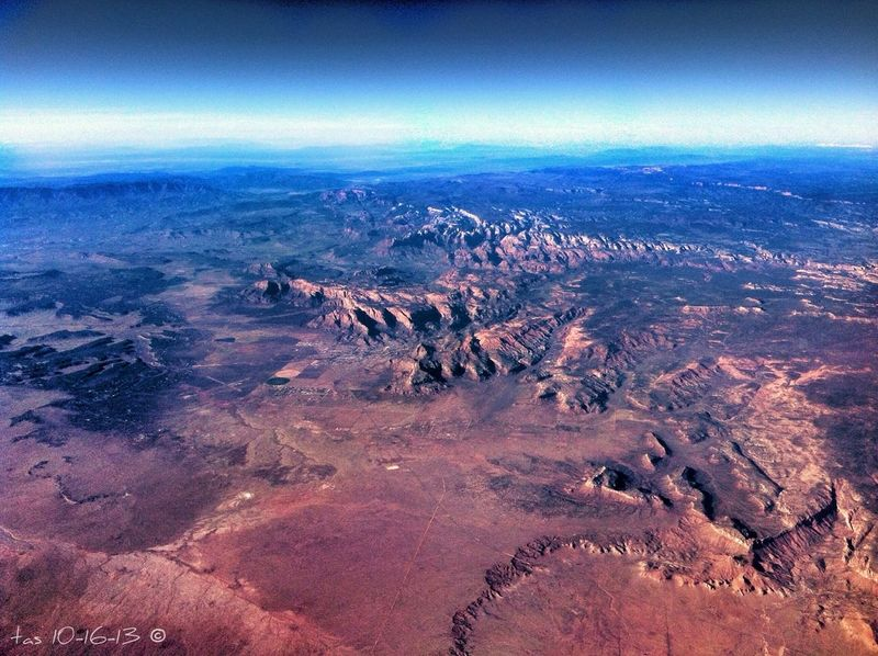 Another pic from the air today ... I think we were still over Utah Plane Shots