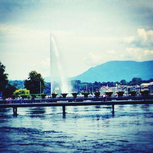 Jet d'eau... Jetdeau Geneva Lakegeneva  Switzerland First Eyeem Photo