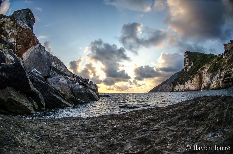 portovenere Sunset Cloud - Sky Water Beauty In Nature First Eyeem Photo Nature Sky
