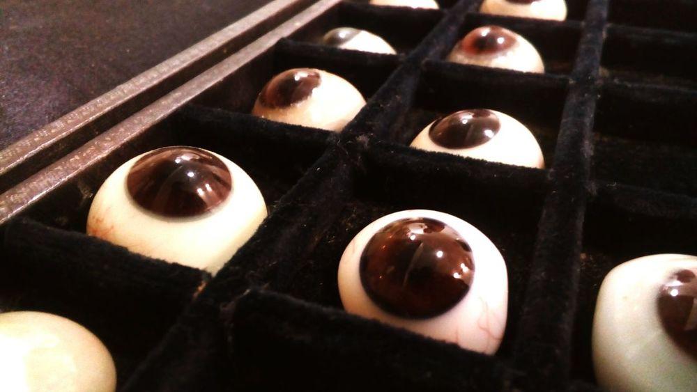 Glasseseyes Eyes Eyesglasses Old Optic Work Hungary