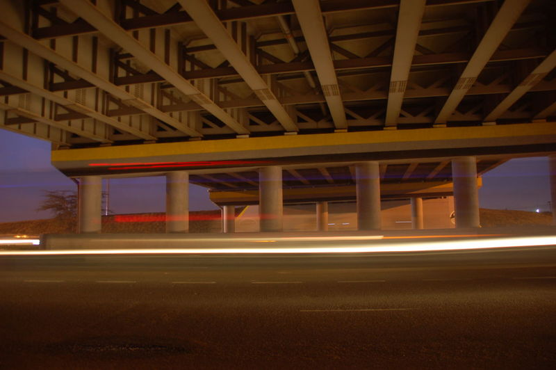 Early morning under the southern bypass. Architecture Bridge - Man Made Structure Built Structure Connection Illuminated Night No People Outdoors Road Transportation Underneath