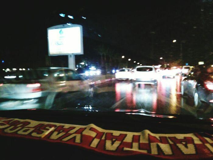 Cities At Night Antalya Turkey Street Traffic