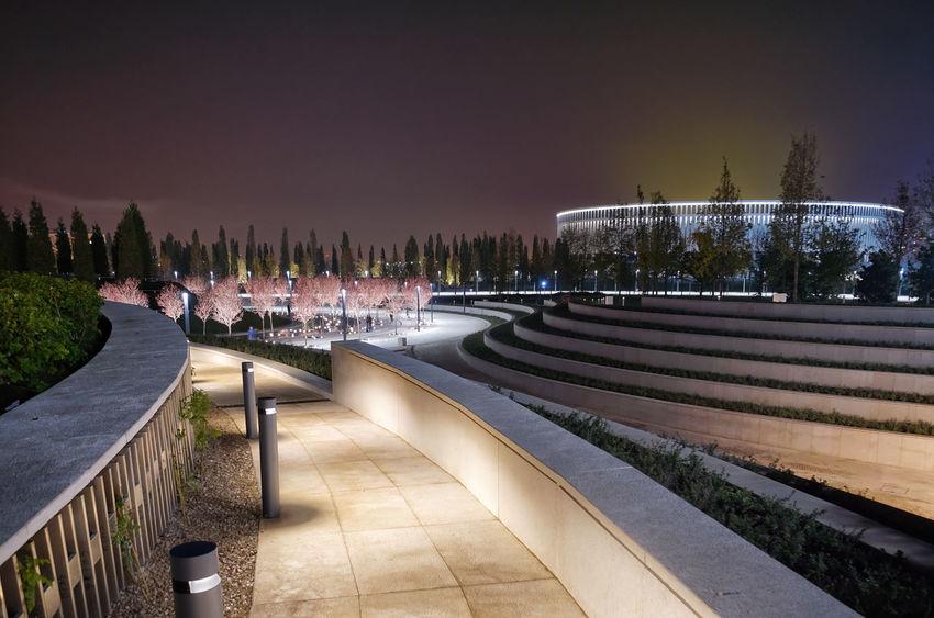 Night Illuminated Outdoors Tree Sky Stadium Architecture Landscape Long Exposure HUAWEI Photo Award: After Dark