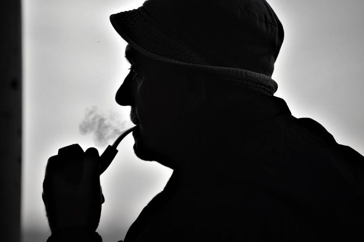 Bursa Activity Bad Habit Cigarette  Close-up Gölyazı Headshot Holding Leisure Activity Lifestyles Men One Person Pipe Pipo Portrait Real People Side View Silhouette Smoke - Physical Structure Smoking - Activity Smoking Issues Social Issues