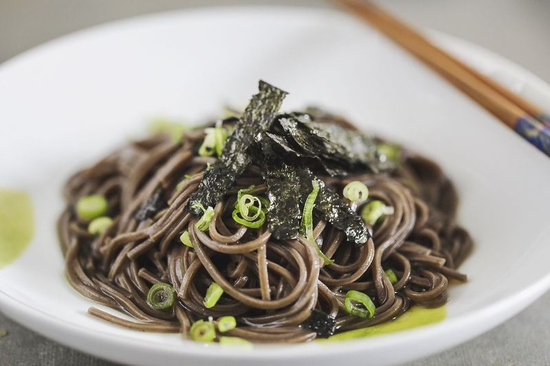 Cold soba noodles Ontario, Canada Aurora Market Eyeemmarket EyeEm Gallery EyeEm Gallery EyeEm Best Shots EyeEm Plate Foodphotography Food And Drink Macro_collection Macro Plate Food Close-up Freshness Indoors  Ready-to-eat Food And Drink No People Selective Focus Serving Size Healthy Eating Focus On Foreground