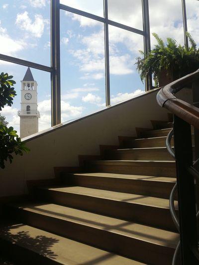 Oldclock Tower Springtime Window Sunshine ☀ Ontime Degree Building Architecture Tirana Albania