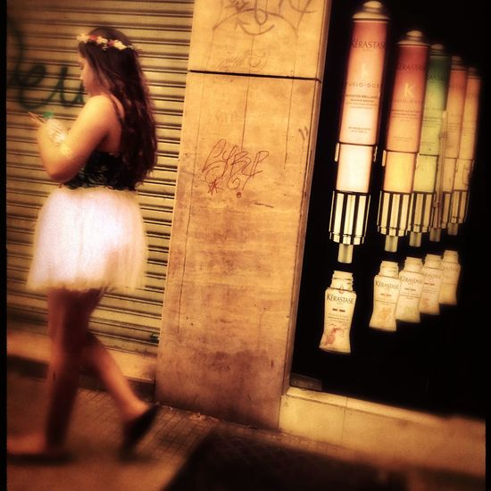 She dances alone in the city Hipstamatic One Person Real People One Woman Only Standing Colour Your Horizn Lifestyles