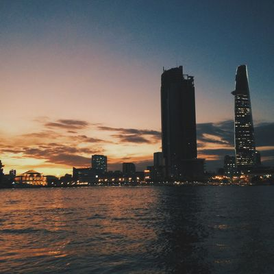 Saigon Vietnam City Cityscapes IPhoneography Wandering Wanderlust Sunset Riverside Water
