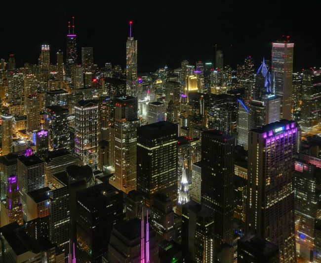 Chicago Skyline Willis Tower Chicago Downtown District Skycrapers Skyline Financial District  Tower Spire  Building Story