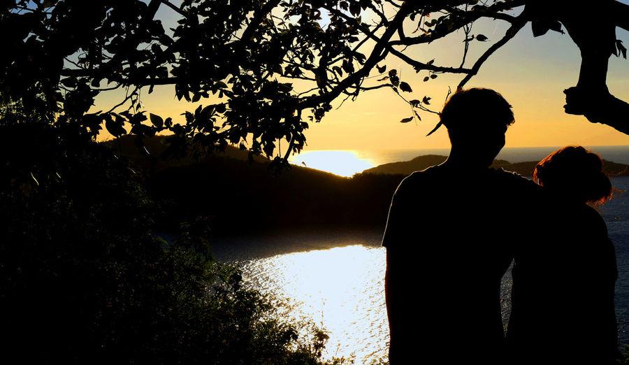 #beautiful #couple #love #Nature  #silhuette #sun #sunset #view Outdoors Sunlight Water