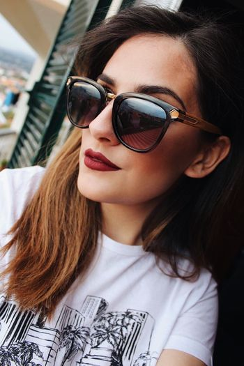 Portrait Of A Woman Portrait Sunglasses Red Lips EyeEmNewHere