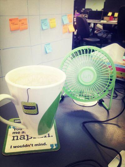 Para combatir el calorsh en la oficina!