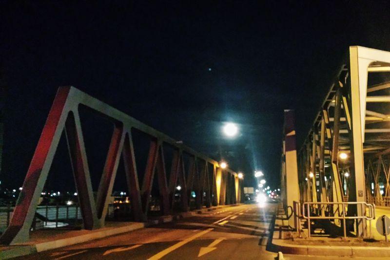 Hamburg Night Moon Hamburg Harbour