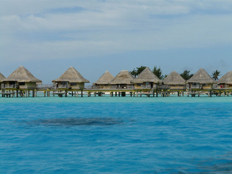 Polynesia Architecture Beauty In Nature Blue Building Exterior Built Structure Day Fakarava House Nature No People Outdoors Overwater Bungalow Scenics Sea Sky Tranquil Scene Tranquility Water Waterfront