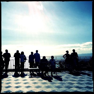 See and be seen - Taormina, Sicily, iPhone 4S