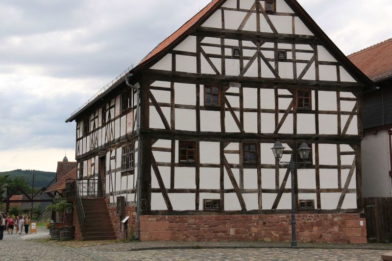 At Hessenpark. It is an open-air museum in Neu-Anspach, Hessen, Germany. The useum showcases half-tombered buildings from the land of Hesse. Architecture Building Exterior Built Structure Cloud Day Entrance Façade Outdoors Sky Weathered