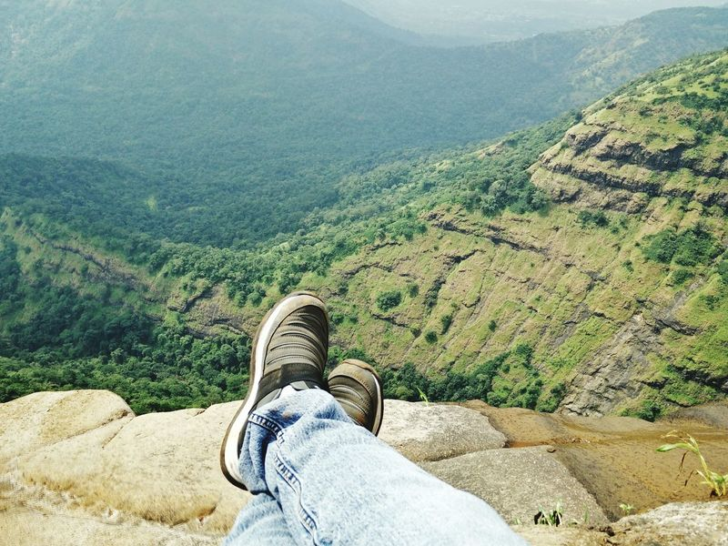 Low Section Personal Perspective One Person Human Leg Human Body Part Scenics Lifestyles Shoe Nature Green Color Landscape Beauty In Nature Mountain Agriculture Terraced Field Hieght Mountain Peak Top View EyeEmNewHere