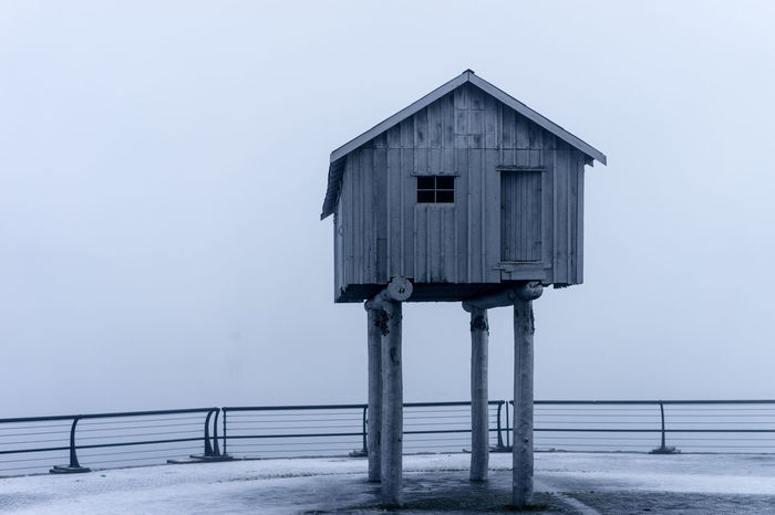 Abandoned Architecture CoalHarbour Fog House No People Old Outdoors Sea Seaside Wood Wood - Material Wooden