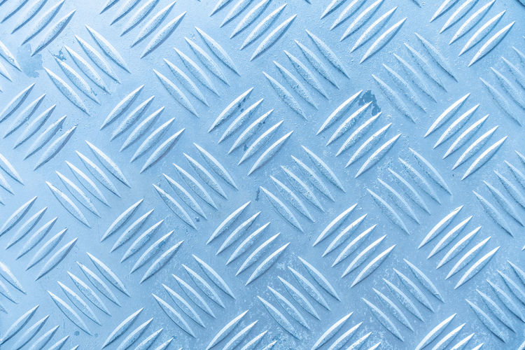 Abstract Alloy Backgrounds Blue Brushed Metal Chrome Close-up Flooring Full Frame Indoors  Iron - Metal Metal No People Pattern Repetition Sheet Metal Silver - Metal Silver Colored Steel Surface Level Textured  Textured Effect