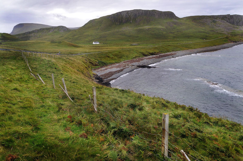 Coast of the Isle of Skye north of Kilmuir Coastline Highlands Hill Landscape Mountain No People Non Urban Scene Non-urban Scene Scotland Skye Tranquil Scene Tranquility Water