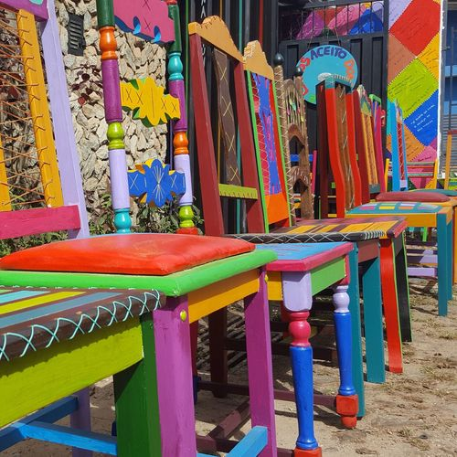 Multi Colored No People Chair Close-up Outdoors Brazil Travel Travel Photography Traveller Travel Destinations Traveling Art Artistic Art Gallery Art Photography Lavras Novas MG :-)