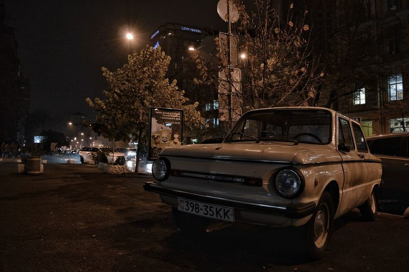 Night Illuminated City Car No People Outdoors Street Kyiv,Ukraine Kyiv City Zaz Spontaniouscaptures Autumn Fall