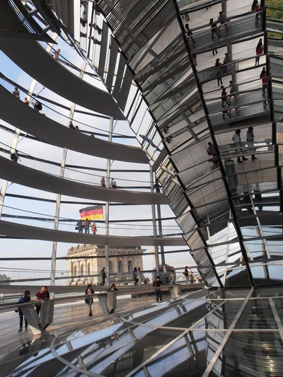 Arquitecture Berlin NormanFoster Architecture Built Structure City Indoors  Parlament Travel