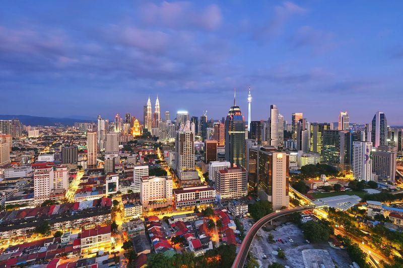 Kuala lumpur cityscape view