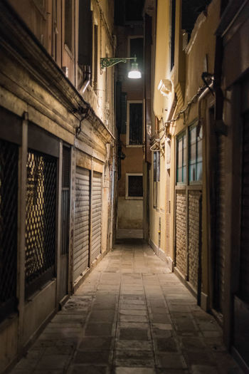 Venice Streets Venice Streets At Night Venice Streets Alley Architecture Basement Built Structure House Illuminated Indoors  Night No People Residential Building