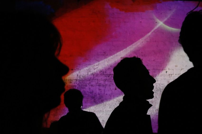 Club Clubbing Dark Red Abstract Club Darkness And Light Evening Multi Colored Night People Purple Real People Silhouette Street Streetphotography Mix Yourself A Good Time