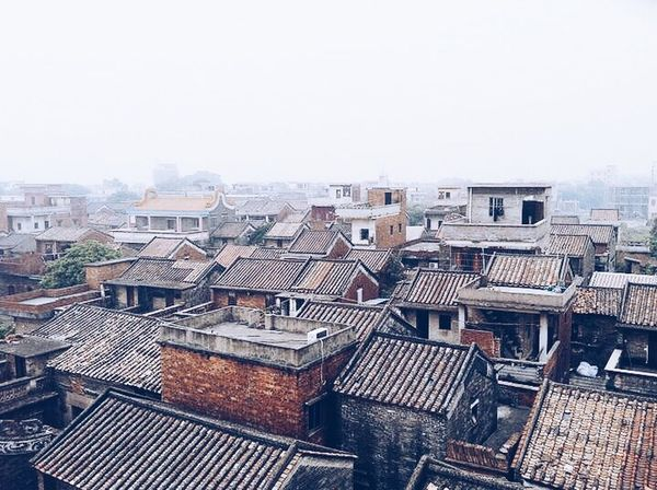 China Guangzhou Village Foshan,China Foshan Houses Home Architecture Chinese Village Cityscapes City City View  City Skyline Skyline