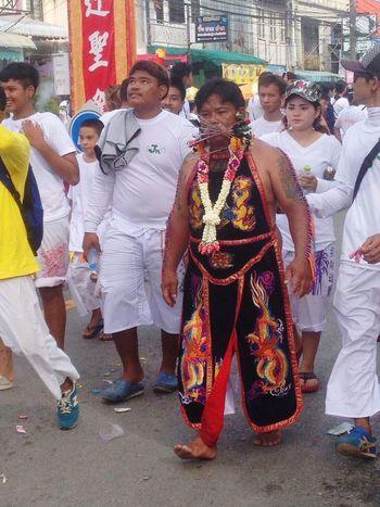 YomKippur Festival Tradition Attraction Shape God Respect Believe Eat Vegetable Wearwhite Wear White Ourdoor Phuket Thailand The Photojournalist - 2017 EyeEm Awards