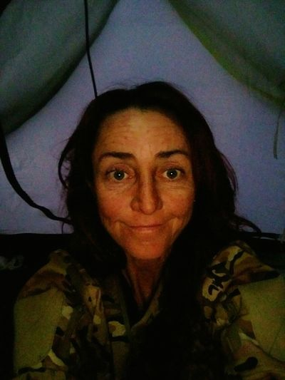 Australia Outback Collection One Woman Only Coldweather Adult Portrait Real People Close-up Inside Tent Outback Adventure Looking At Camera Exhausted But Happy real lives, real places The Other Side Of The Lens