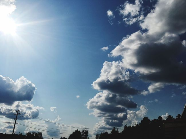 Dramatic Sky Sky Low Angle View Cloud - Sky Sunbeam Sunlight No People Day Blue Nature Outdoors Beauty In Nature Sun