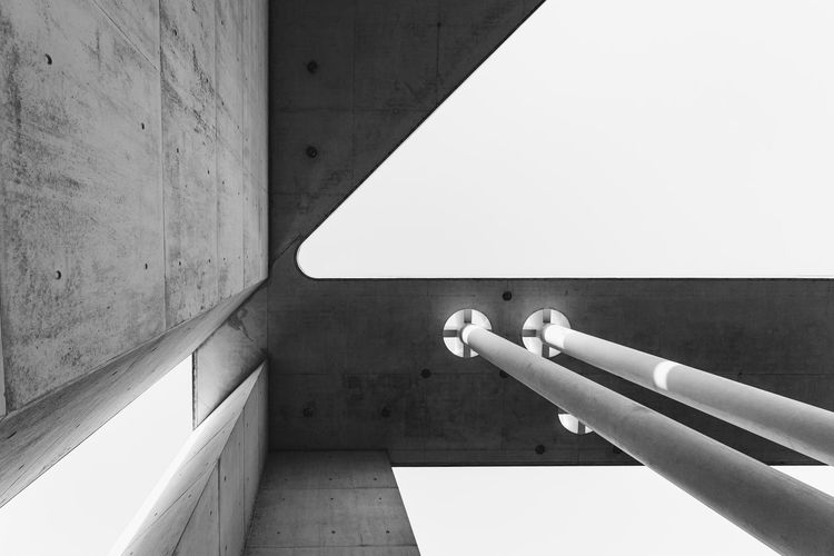 Abstract modern architecture in Bonn, Germany Bonn Modern Modern Architecture Architecture Blackandwhite Built Structure Close-up Concrete Concrete Wall Copy Space Germany No People Simple Simplicity Sunlight Wall Wall - Building Feature