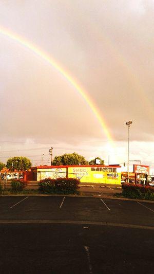 International Blvd Rainbow Cloudy Weather Irony