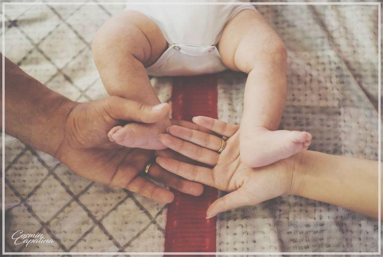 Close-up of man touching woman hand