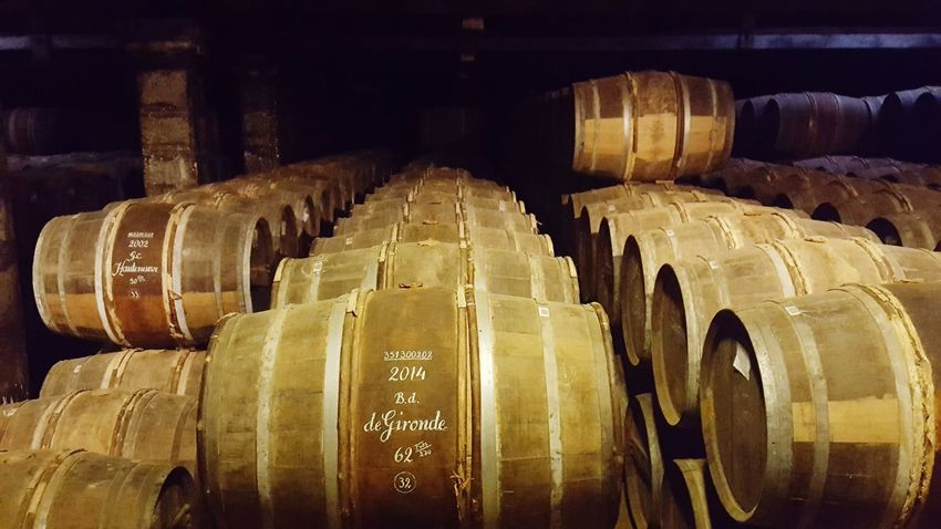 In A Row Indoors  Warehouse No People Wine Cellar Business Finance And Industry Industry Cellar Agriculture Winemaking Factory Wine Cask Day Travel Destinations Cognac Region Cognac Ville De Cognac Barrels Of Cognac Barrels Arrangement Barrel Food And Drink Industry Abundance