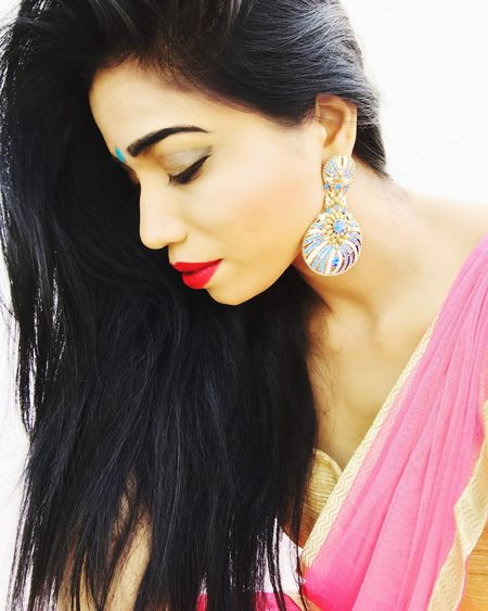 Fashion Model #Tanya Singh Posing Elégance Glamour Make-up Black Hair Front View Red Lipstick Tanya Singh Beautiful People