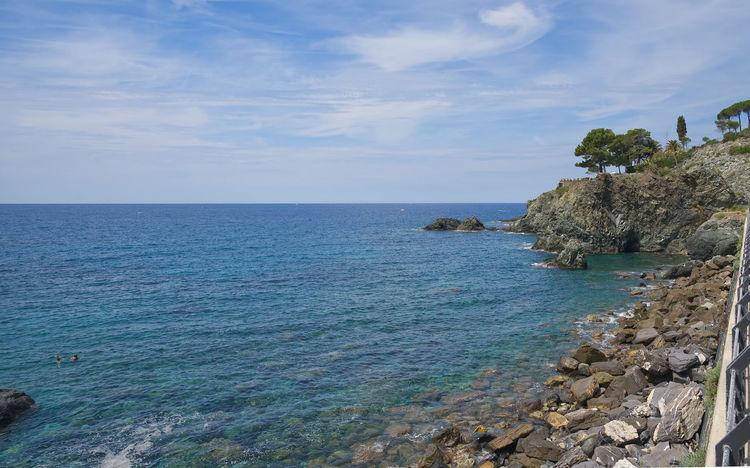 Bonassola coastline - Ligurian Sea - Liguria - Italy Bonassola Beach Beauty In Nature Blue Cloud - Sky Coast Day Horizon Horizon Over Water Idyllic Land Levanto Liguria Nature Outdoors Rock Rock - Object Rocky Coastline Scenics - Nature Sea Sky Solid Tranquil Scene Tranquility Water