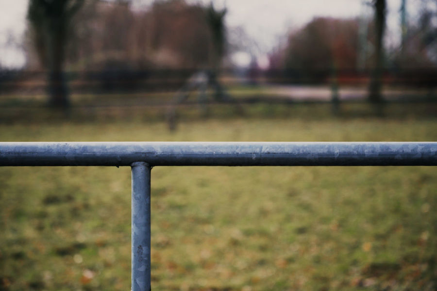 Autumn Farm Farmland Metal Post Screws Buttons Close-up Day Fence Focus On Foreground Metal Nature No People Outdoors Plastic Tree Wooden Post