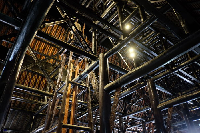 Abundance Architecture Backgrounds Built Structure Ceiling Factory Full Frame Illuminated Indoors  Industry Large Group Of Objects Light Lighting Equipment Low Angle View Metal No People Pattern Pipe - Tube Staircase Steps And Staircases