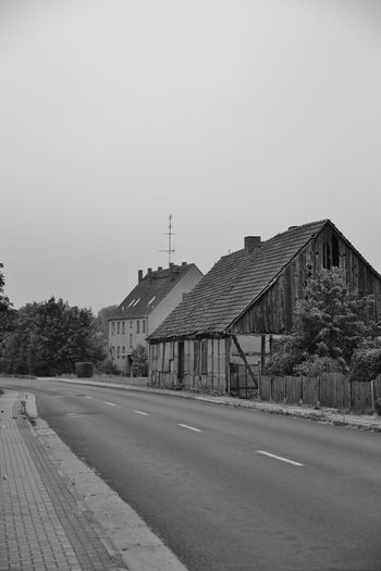 Architecture Clear Sky Day Dorf Empty Road House No People Outdoors Road Road S/w Street The Way Forward Trzoska Uckermark Village